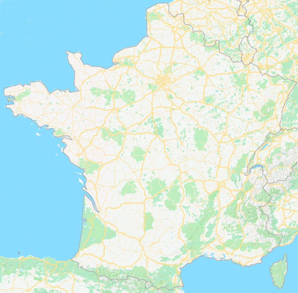 carte de France des visites virtuelles